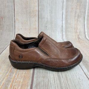 Born Leather Clogs Size 9